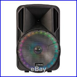 Party Light Sound PARTY-15RGB Portable PA Speaker Bluetooth System inc Mic