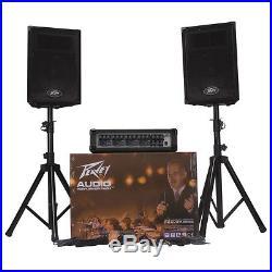 Peavey Audio Performer Pack 100w Full PA System Speakers, Amplifier, Mics PVIAPP