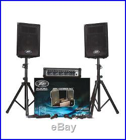 Peavey PA System Audio Performer Pack 2 x PVi 10 Speakers 2 x Mics + Amplifier