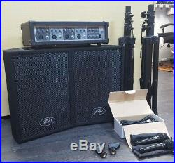 Peavey PVI Audio Performer Pack Full PA System Mics, Leads, Speakers, Stands