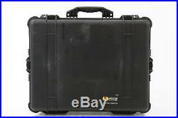 Pelican 1610 Audio Video Microphone Mic Rolling Case with Wheels & Foam #34375