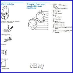 Philips Bluetooth NFC Active Noise-Cancelling Headphones Headset/Hi-Res Audio