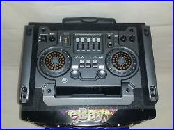 Portable dj Speaker Audio Music Case Wheels KARAOKE Mic Trolley 10 800W