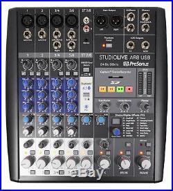 Presonus+Audio Technica Podcast Studio Kit with Mixer+Mics+Headphones+Boom Stands