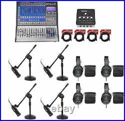 Presonus StudioLive+Audio Technica Podcast Recording Bundle withMics+Headphones