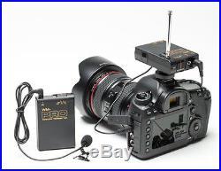 Pro 800D WLM wireless lavalier mic for Canon EOS 760D 750D 700D 200D 100D audio