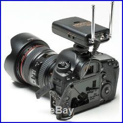 Pro 80D W2LM DC 2 wireless lavalier mic for Canon 70D 60D 7D 6D DSLR clear sound