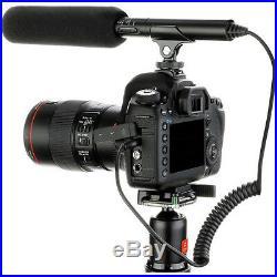 Pro AX100 VM SC-2L shotgun mic LED light for Sony AX100 AX53 AX33 CX900 4k sound