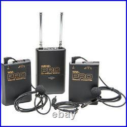 Pro AX100 W2LM DC 2 wireless lavalier mic sony AX53 AX33 CX900 VG30 clear sound