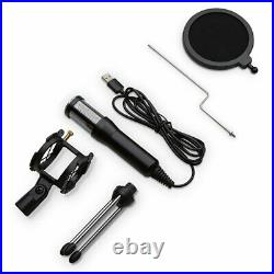Professional Condenser Microphone MiC Sound Studio Recording USB Tripod Stand Y1
