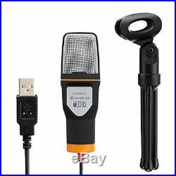 Professional Microphone USB Condenser Sound Podcast Studio PC Laptop Kit Mic NEW