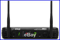 Pyle Pro Audio PDWM3400 Dual Bodypack Transmitter Uhf Wireless Mic System New
