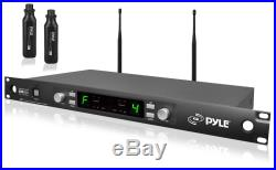 Pyle Pro Audio PDWM3450 Rack Mountable Uhf Mic System With Plug-In Transmitter New