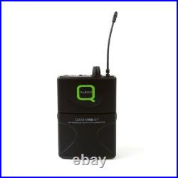 Q-Audio QWM-1900 BP UHF Wireless Headset & Lavalier Radio Mic Microphone Set