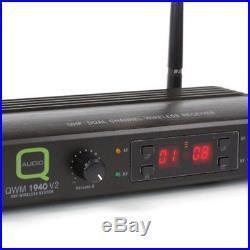 Q Audio QWM 1940 V2 HH UHF Dual Ch Wireless System 2x Handheld Mic Transmitters