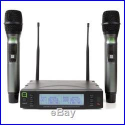Q-Audio QWM 1960 V2 HH UHF Wireless DJ PA Microphone Mic System (863-865 MHz)