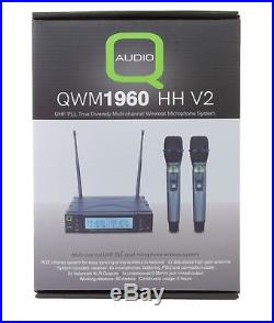 Q-Audio QWM1960 V2 Vocal DJ Handheld Twin Handheld Licence Free Radio Mic System