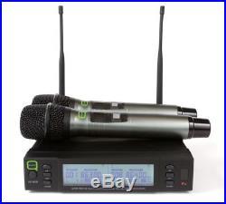 Q Audio QWM1960HHV2 UHF Dual Channel Handheld Wireless Mic System DJ Karaoke
