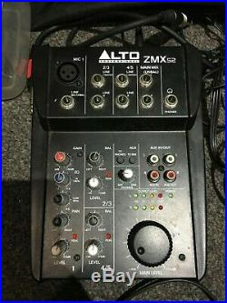 QTX Sound 400W PA SYSTEM with Alto Mixer, Karoke, Mic, Headphones, Stands + Case