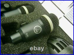 RARE AKG RHYTHM Drum Microphone / Mic 6-PIECE Set PRISTINE! SUPERB SOUND