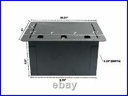 Recessed Stage Audio Floor Box with 8 XLR Mic Female Connectors + AC Outlet