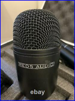 Red 5 Audio Drum Mic Set. Incl. Kick Drum Mic, Overhead Mics, Clips And Clamps