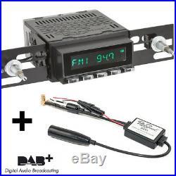RetroSound Radiomodul San Diego DAB+ mit BlackC Display und DAB Antennensplitter