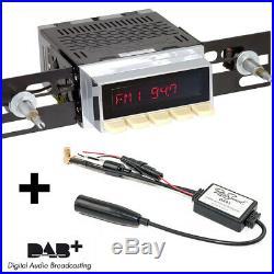 RetroSound Radiomodul Santa Barbara DAB+ mit Ivory Display Motor-7 USB Bluetooth