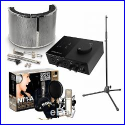 Rode NT1-A Vocal Recording Pack with USB Audio Interface, Mic Stand & Booth