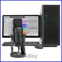 SAMSON G-Track Pro Studio USB Podcast Microphone Mic+Built in Audio Interface