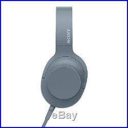 SONY MDR-H600A h. Ear on 2 Hi-Res Audio Stereo Headphones Moonlit Blue NEW