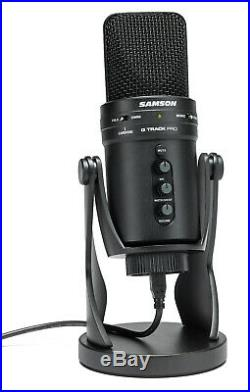 Samson GTrackPro G-Track Pro USB Microphone Mic with Audio Interface