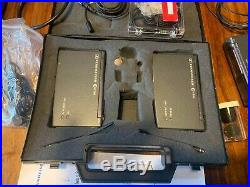 Sennheiser EW100 Radio Mic Kit 1 Transmitter & 2 X Receivers Sound Equipment