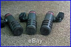Set Of Three Audio Technica Atm25 Drum Mics