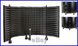 Studio Microphone Isolation Sound Absorber Foam Foldable Panel Shield Stand Mic