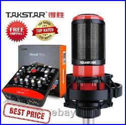 Takstar PC-K320 Microphone With ICON Upod Pro Sound Card And Audio Cable