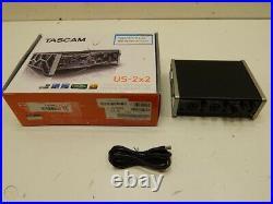 Tascam US2x2 USB audio interface mic/line/P48