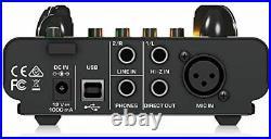 USB Audio Interface, Vacuum Tube Microphone Pre-, TUBE ULTRAGAIN MIC500 USB