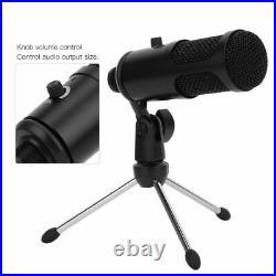 USB Gaming Mic Microphone Sound Bracket Collar for PC Desk Skype Streaming