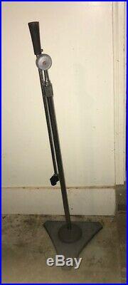 Vintage 60's Atlas Sound Microphone Stand Mic Boom Chrome Cast Iron Base 1430 XL