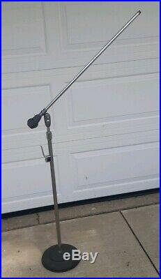 Vintage Atlas Sound Brooklyn Microphone Mic Boom Stand 721D Cast Iron Base MIKE