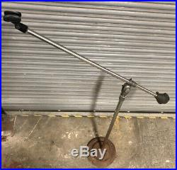 Vintage Atlas Sound Brooklyn Microphone Mic Boom Stand Cast Iron Base MIKE