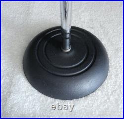 Vintage Atlas Sound Chrome Mic Boom Stand Adjustable Microphone Stand
