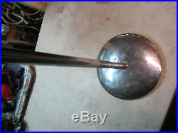 Vintage Atlas Sound Microphone Stand Mic Boom Chrome Cast Iron Base pp2292n