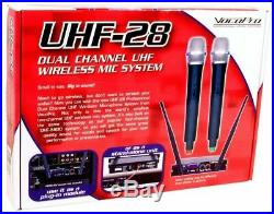 Vocopro UHF-28 Dual Channel UHF Wireless Microphone Mic For Church Sound Systems