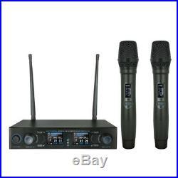 W Audio DM800H Twin Handheld UHF Mic System