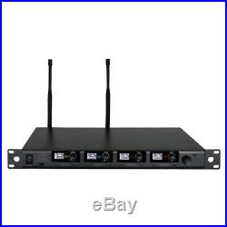 W Audio DQM 600H Quad Handheld UHF Radio Microphone System inc Warranty