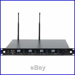 W Audio DQM 600H Quad Radio Mic Wireless System Handheld Microphone DJ Band UHF