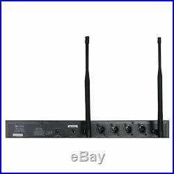 W Audio DQM 600H Quad Radio Wireless System Handheld Microphone UHF Channel 38