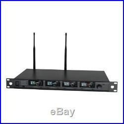 W Audio DQM 800H Quad Radio Microphone Handheld Wireless Mic System CH70